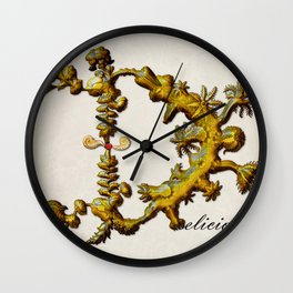 Delicious D Wall Clock