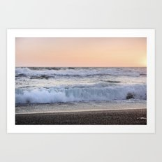 Looking at the sea.... Magnetic waves Art Print