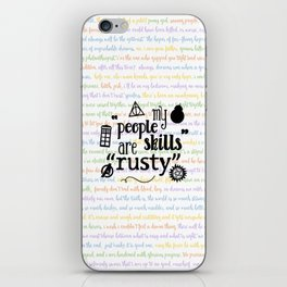 "My ""People Skills"" are ""Rusty"" iPhone Skin"