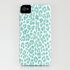 Mint Leopard Print iPhone (4, 4s) Slim Case