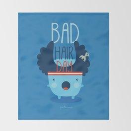 Bad Hair Day Throw Blanket