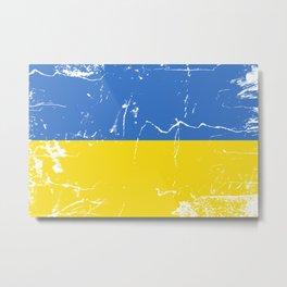 Ukraine flag Metal Print