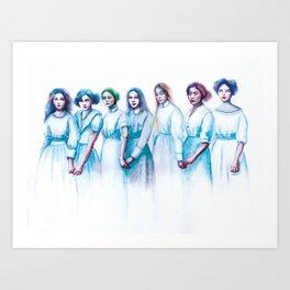 Seven Ghosts  Art Print