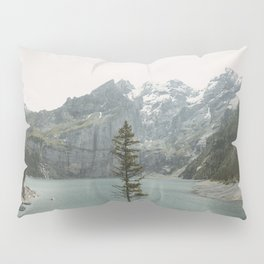 Lone Switzerland Tree - Landscape Photography Pillow Sham