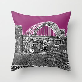 PURPLE SKY OVER THE CITY Throw Pillow