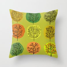Tidy Trees All In Pretty Rows Throw Pillow