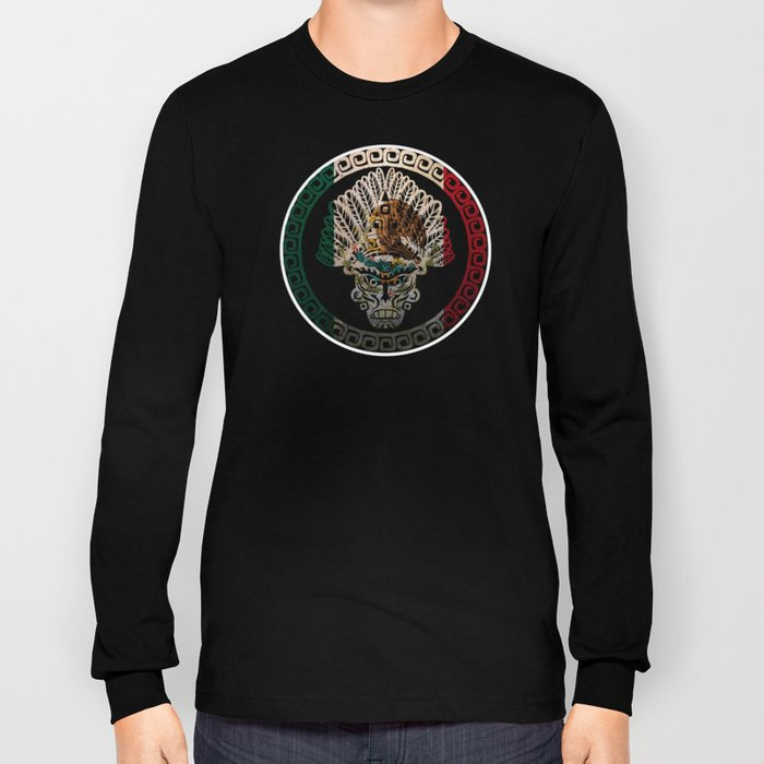 Mexico Design Mexican Flag Design For Mexican Pride Long Sleeve T-shirt
