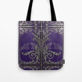 Blue and Silver Thistles Tote Bag
