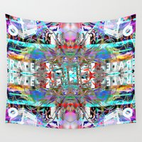 rave Wall Tapestries featuring RATE RAVE by Riot Clothing