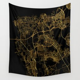 Beirut map, Lebanon Wall Tapestry