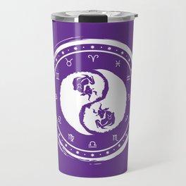 Taurus Yin Yang Second Zodiac Sign Travel Mug