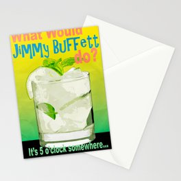 What would Jimmy Buffett do? Stationery Cards