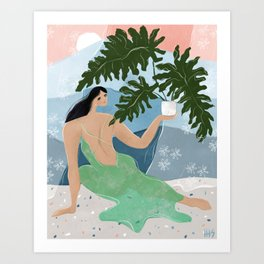 Mother of plants Art Print