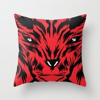bunny Throw Pillows featuring Bunny by Vasco Vicente