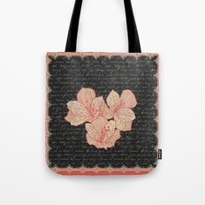 Burlap & Flowers 2 Tote Bag