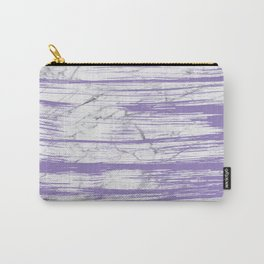 Modern abstract violet watercolor brushstrokes marble pattern Carry-All Pouch
