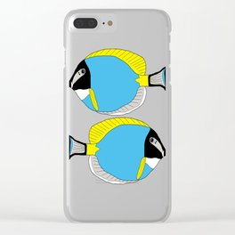 Powder blue tang Clear iPhone Case