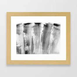 I feel grey today (happy) Framed Art Print