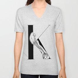 Mermaid Alphabet - K Unisex V-Neck