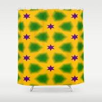 Mardi Gras Stars 3599 Shower Curtain