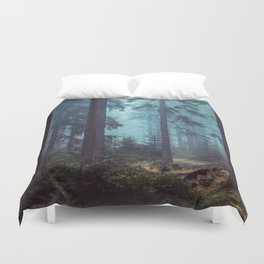 In the Pines (Vertical) Duvet Cover