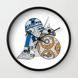 R2D2 and BB8 Wall Clock