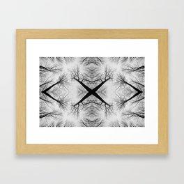 Forest Cross Framed Art Print