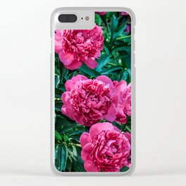 Flower Photography Spring Summer Lush Tropical Peonies Clear iPhone Case