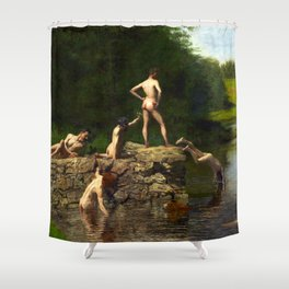 Thomas Eakins Swimming Shower Curtain