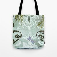 tiffany Tote Bags featuring tiffany lake by Ariadne