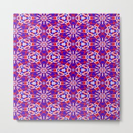 Red, White and Blue Graphic Art Stars 240 Metal Print