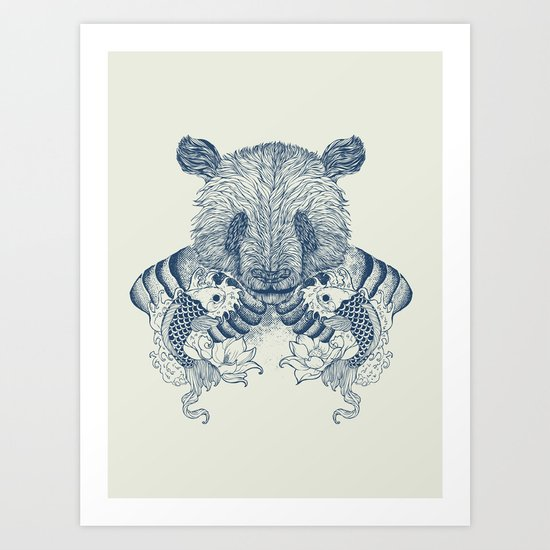 Panda Tattoo Art Print
