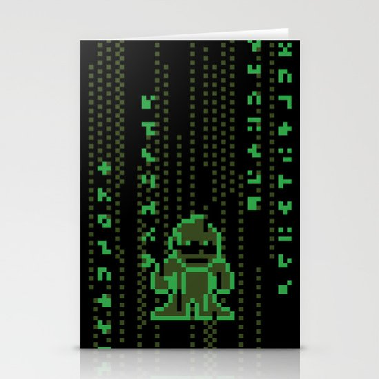 The Pixel Matrix Stationery Cards