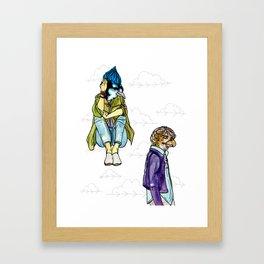 jay and hawk Framed Art Print