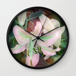 Auras Dancing with the Lilies  Wall Clock