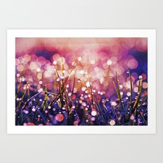 Fairy Drops Sunburst Art Print