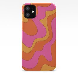 Groovy 60's and 70's Retro Pattern iPhone Case