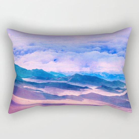 Blue Mountains Land Rectangular Pillow