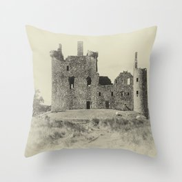 Kilchurn Castle 3 Throw Pillow