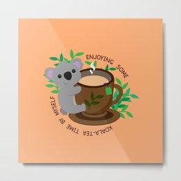 Koala-Tea Time Metal Print
