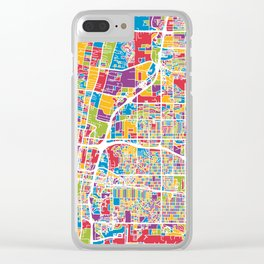 Albuquerque New Mexico City Street Map Clear iPhone Case