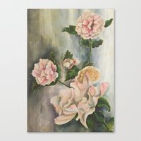 peonies Canvas Prints featuring Peonies by Shazia Ahmad