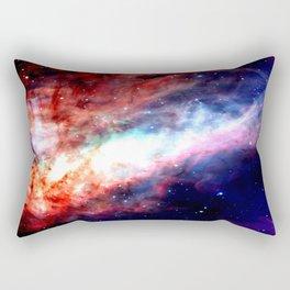 The Omega Nebula Vibrant Rectangular Pillow