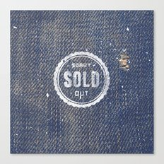 Blue Denim Jeans Texture Cool Fashion Fabric Print Canvas Print