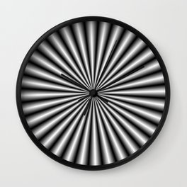 32 Rays in Black and White Wall Clock