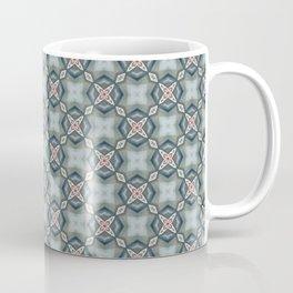 Blue & Coral Geometric Pattern Coffee Mug