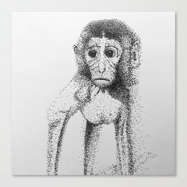 Dotted Monkey Canvas Print
