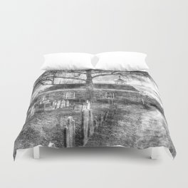 Old Dutch Church Of Sleepy Hollow Vintage Duvet Cover