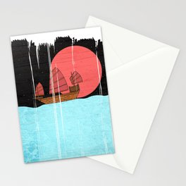 Oriental Sailing Stationery Cards