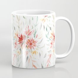 Trailing Autumnal Floral Pattern Coffee Mug